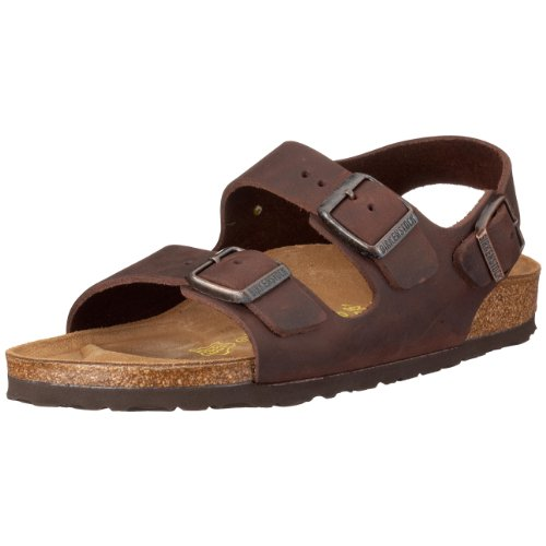 Birkenstock Milano Natural Leather, Style-No. 34871, Unisex Sandals, Habana, EU 42, normal width