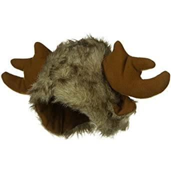 Furry Moose Hat - Brown W40S23A