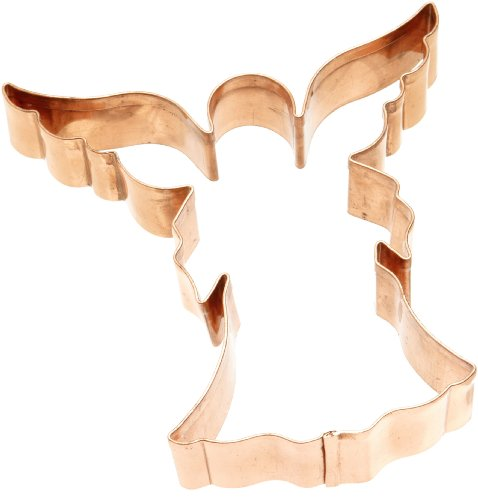 Old River Road Angel Shape Cookie Cutter, Copper (Copper Cookie Cutters compare prices)