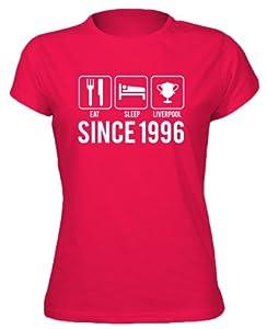 16th Birthday - Eat Sleep Liverpool Womens T-shirt - Red Medium