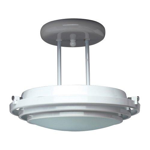PLC Lighting 1614 PB 1 Light Semi Flush Mount Cascade Collection (Kitchen Semi Flush Lighting compare prices)