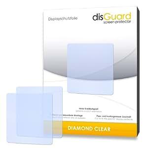 2 x disGuard Diamond Clear Film protecteur d'écran pour TomTom Nike+ Sportwatch GPS - Qualité supérieure (limpide, revêtement dur adhésif, montage sans bulles)