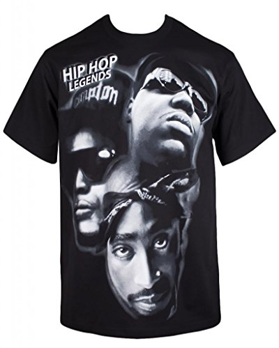 Hip Hop Legends Most Wanted Men'S T Shirt (L, Black)