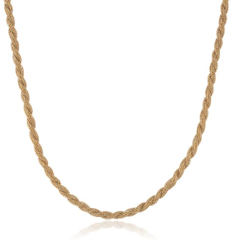 Twist Rope Mesh Gold Ion Plated Stainless Steel Chain Necklace