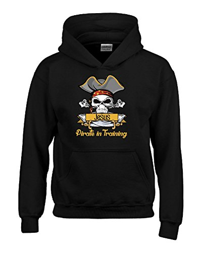 Halloween Costume Jesus Pirate In Training Kids Boy Girl Gift - Kids Hoodie