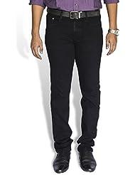0-Degree Jeans Pants Stretch Denim For Men Denim Black