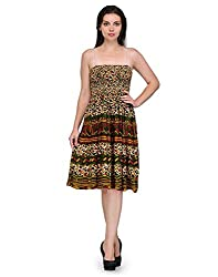 Viba London Women Jodhpuri Print Smoking Dress Multicolor Medium