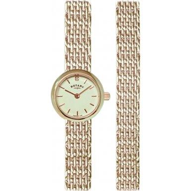 Rotary LB02766/BR/40 Ladies' Gold Watch/Bracelet Gift Set