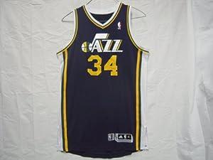 #34 C.J. Miles 2010-11 Utah Jazz Game Worn Road Jersey by adidas