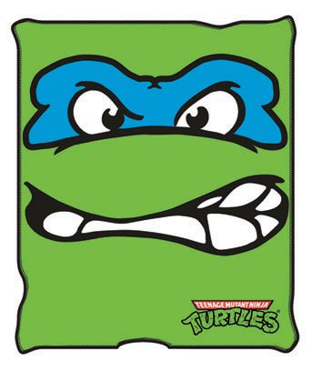 Silver Buffalo Teenage Mutant Ninja Turtles Leonardo Micro-Plush Throw Blanket, 50 by 60-Inch, Multicolor