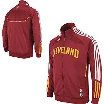 adidas Cleveland Cavaliers Youth (Sizes 8-20) On-Court Warmup Jacket