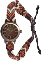 Kahuna Women's Quartz Watch with Brown Dial Analogue Display and Brown Fabric Strap KLF-0022L