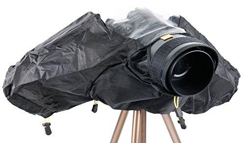 Housse DURAGADGET anti-pluie pour appareils photo reflex Nikon D5500, D60, D600 et D610 - chiffon BONUS