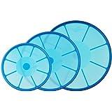 """Genius 21009 Cover Silikon Frischhalte-Deckel blau 3-tlg., 20cm, 24cm und 28cmvon """"Genius"""""""