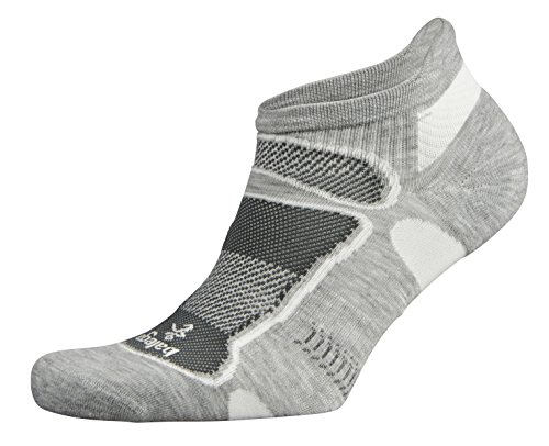 Balega Ultra Light No-Show Running Sock Grey/White, M