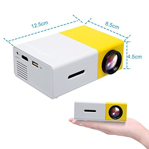 Video review yg300 mini portable projector easyang for Hdmi mini projector reviews