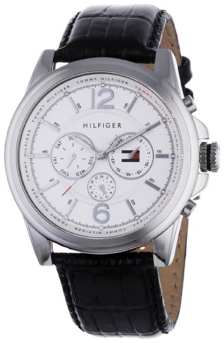 Tommy Hilfiger Mens Watch Franklin 1710241 with Silver Dial