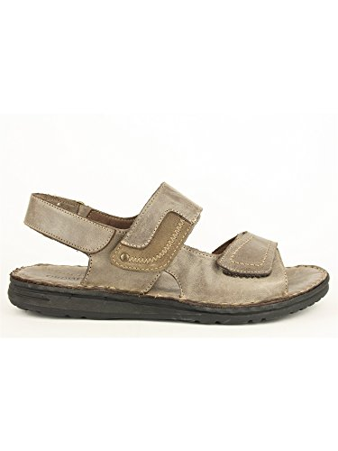 GRUNLAND LAPO SA0287 ebano sandalo uomo fasce strappi pelle