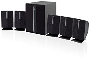 iLive HT050B 5.1 Channel Home Theater Speaker System (Black,6) by iLive
