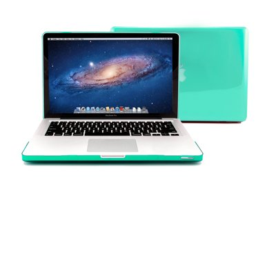"GMYLE® Turquoise Robin Egg Blue Clear Crystal Frosted Hard Shell Clip Snap On Case Skin Cover for Apple 13.3"" inches Macbook Pro Aluminum Unibody - With Silicon Turquoise Robin Egg Blue Protective Key"
