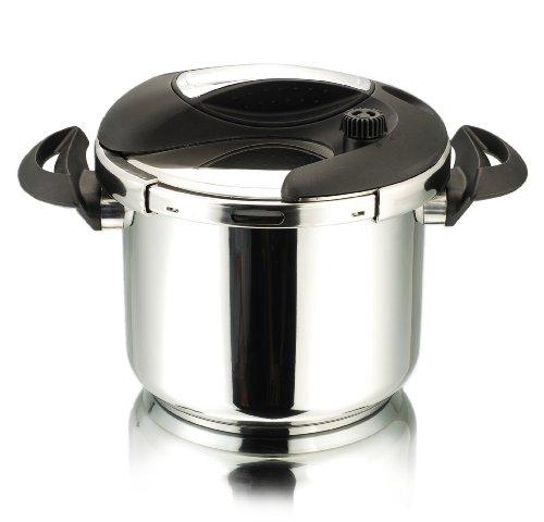 Cuisinox POT-E7 Deluxe Pressure Cooker, 7-Liter, Stainless Steel