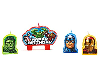 "Cheapest Party Time Avengers Molded Mini Character Birthday Candle Set, Pack of 4, Red , 2.25"" x 3.25"" Wax by American Greetings- Toys - Free Shipping Available"