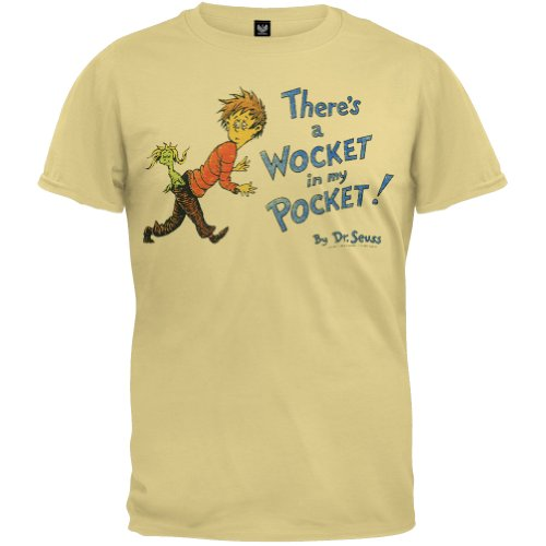 Dr. Seuss - Wocket Cover Distressed T-Shirt - X-Large front-1053206