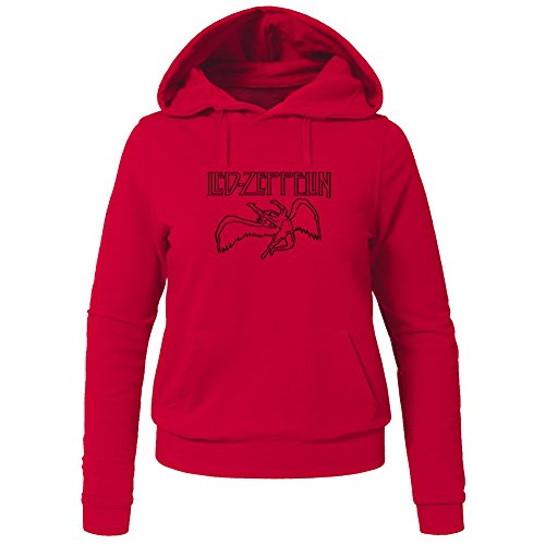 Led Zeppelin Hoodies -  Felpa con cappuccio  - Donna Red XX-Large