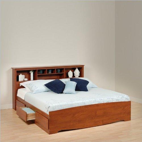 Platform Bed King Size Platform Storage Bed In Cherry