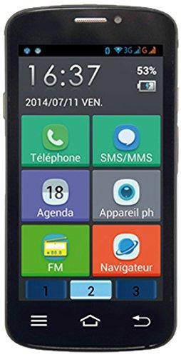 Inovalley GSM 500 Smartphone débloqué 3G (Ecran: 4,5 pouces - 2 Go - Double SIM-Micro - Android) Noir