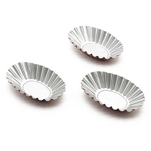 Wenwins non stick Bakeware pie pan mini tart pan cake mold 6 pack gold