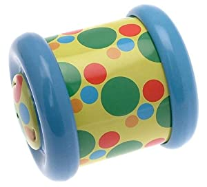 Toddler motor activity toy - rolls and comes back to you - blue