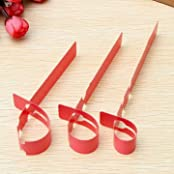 100pcs 2x20cm Waterproof Plastic Plant Hanging Tags Gardening Plant Flower Marker Label - Red