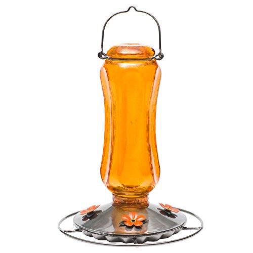 Perky-Pet Carnival Glass Vintage Oriole Feeder 8135-2 Beautiful Carnival Glass