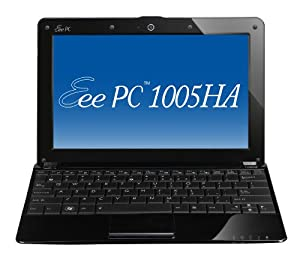 ASUS Eee PC 1005HA-VU1X-BK 10.1-Inch Black Netbook - 8.5 Hour Battery Life