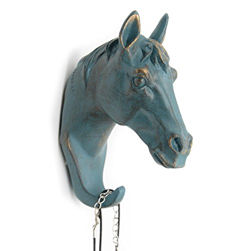 Herngee Horse Head Single Wall Hook / Hanger Animal shaped Coat Hat Hook Heavy Duty, Rustic,Recycled, Decorative Gift , Rustic Bronze Color