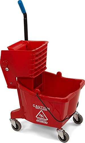 Carlisle 3690805 Mop Bucket with Side Press Wringer, 26 Quart / 6.5 Gallon, Red (Side Press Bucket Wringer compare prices)