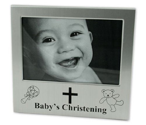 Baby's Christening Photo Frame