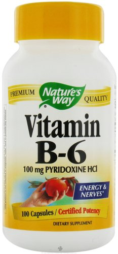 Nature's Way Vitamin B6, 100 Capsules (Pack of 2)