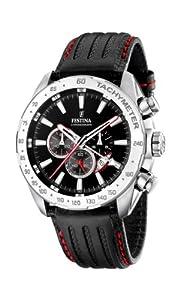 FESTINA F16489/5 - Reloj de caballero de cuarzo, correa de piel color negro