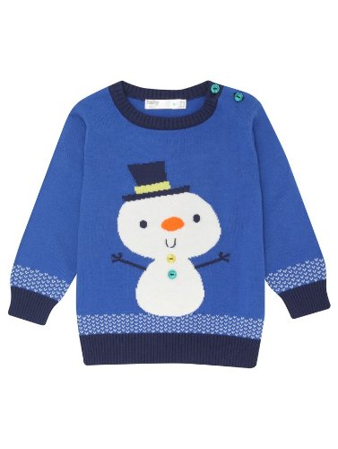 Snowman Xmas Jumper (sizes up to 24 months)