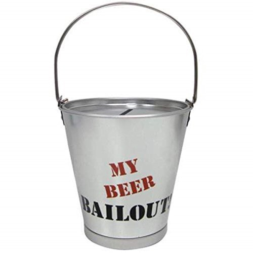 4.25 Inch Beer Bailout Aluminum Silver Bucket Savings Piggy Bank - 1
