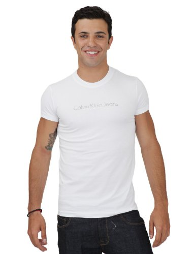 Calvin Klein Cmp77a-j1200-001 Skinny White Man T-shirts Make Men - Xl