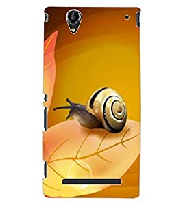 ColourCraft Lovely Snail Design Back Case Cover for SONY XPERIA T2 ULTRA