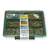 Spax 4101020000767 Multimaterial Screw Assortment Kit, Small, Yellow Zinc