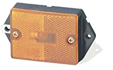Grote Rectangular Single-Bulb Clearance/Marker Lamp with Built-In Reflector Yellow 46393 *Sold as a Pack of 5 Lights