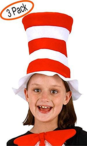 Dr. Seuss the Cat in the Hat Kids Felt Hat (3 Pack)