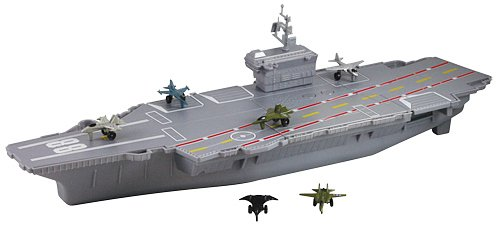 18 inch Aircraft Carrier Playset with Realistic Sounds