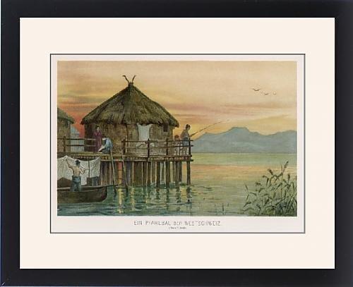 Framed Print Of Swiss Lake Dwelling