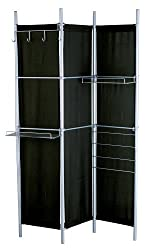 Adesso Hang It Up Folding Screen, Black/Steel